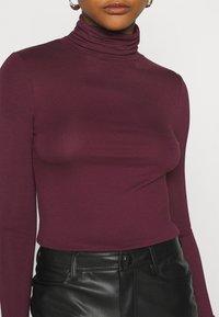 New Look - ROLL NECK - Long sleeved top - dark burgundy - 5