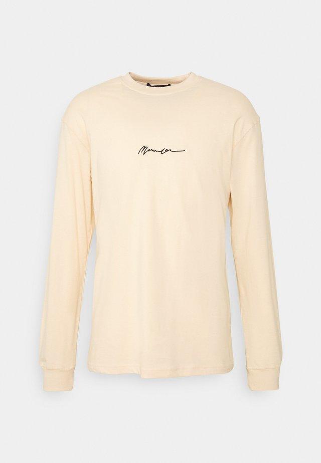 ESSENTIAL SIGNATURE UNISEX - Camiseta de manga larga - sand