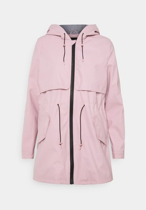 ONLRACE SHORT RAINCOAT - Parka - rose quartz/stripe lining
