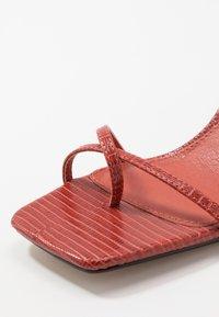 Topshop - NATURE STRAPPY BLOCK - T-bar sandals - rust - 2