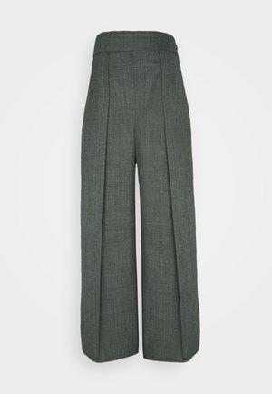 HIGH WAISTED ONE PLEAT - Pantalon classique - slate grey melange