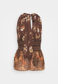 Free People - BRINKLEY SMOCKED TANK - Top - cocoa combo - 1