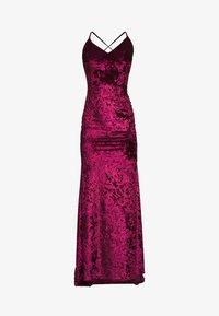 Club L London - CROSS BACK FISHTAIL MAXI DRESS - Occasion wear - wine - 3