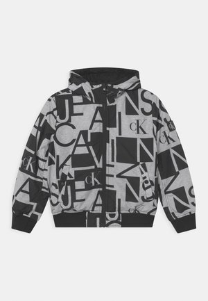 REVERSIBLE - Winter jacket - grey/black