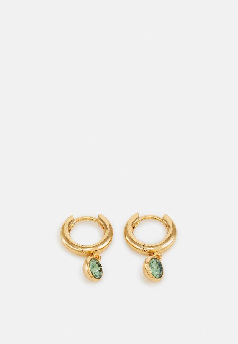 Orelia - DROP HUGGIE HOOPS - Earrings - pale gold-coloured