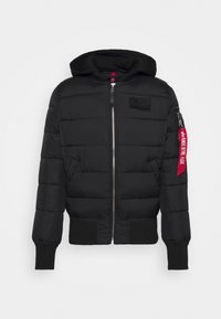BACK PRINT PUFFER - Winter jacket - black