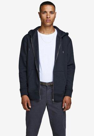 JJESOFT ZIP HOOD - Zip-up hoodie - navy