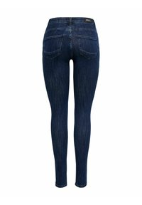 ONLY - SKINNY FIT ONLPOWER LIFE MID PUSH UP - Jeans Skinny Fit - dark blue denim