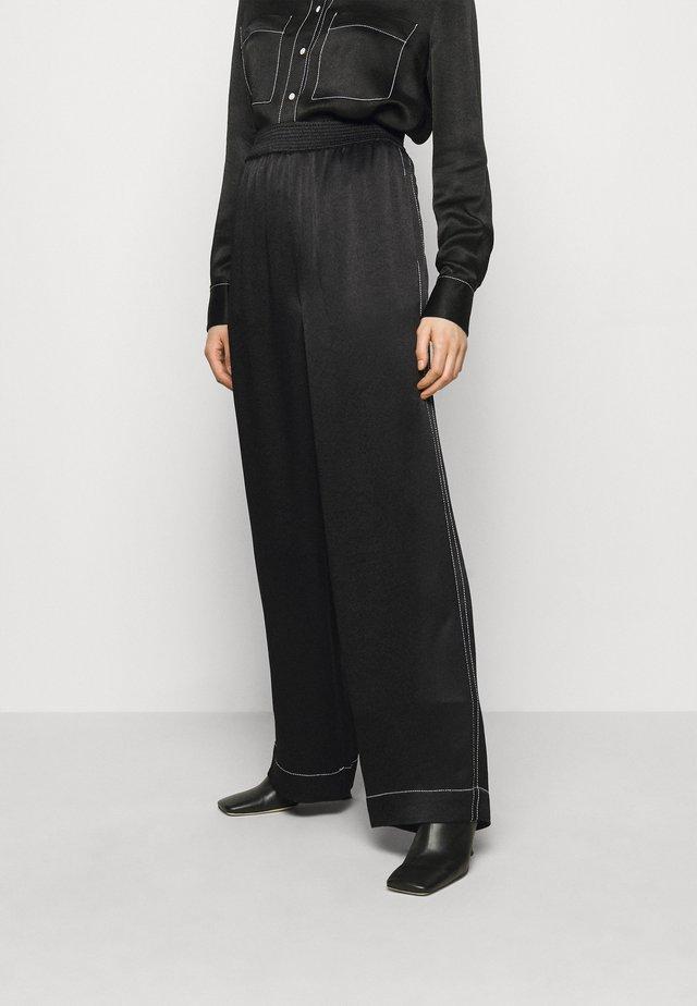 DOBBY PAJAMA PANT - Pantalon classique - black