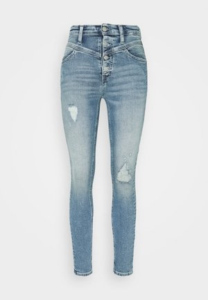HIGH RISE SUPER SKINNY ANKLE - Jeans Skinny Fit - denim light