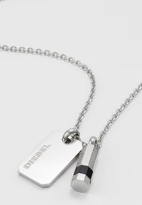 Diesel - DOUBLE PENDANT - Necklace - silver-coloured - 4