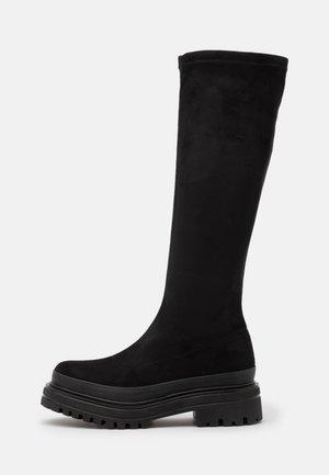 BIADICY LONG BOOT - Stivali con plateau - black