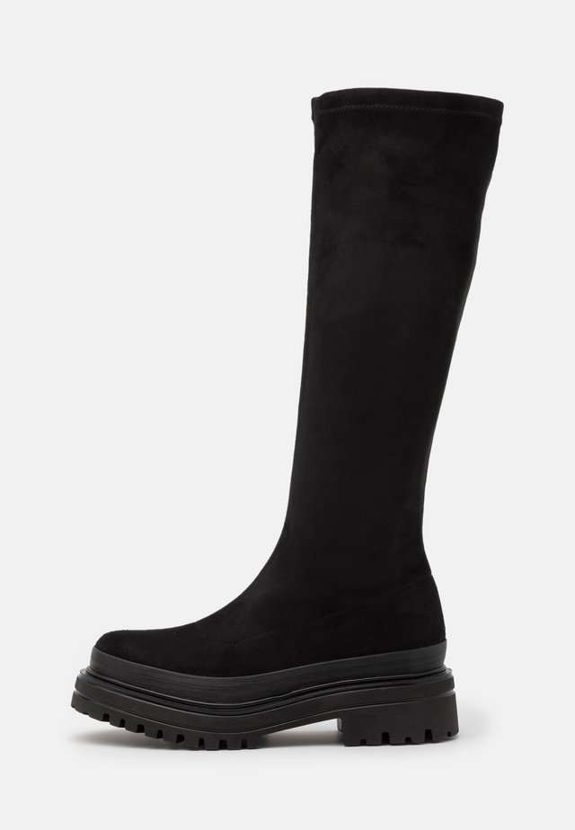 BIADICY LONG BOOT - Bottes à plateau - black