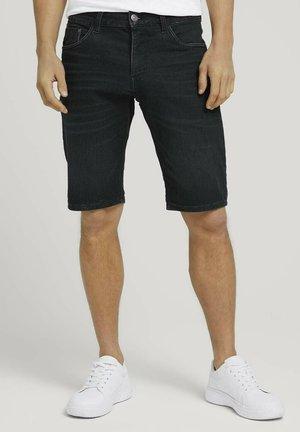 JOSH - Jeans Short / cowboy shorts - clean dark stone grey denim