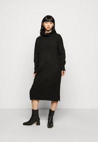 New Look Petite - ROLL NECK DRESS - Jumper dress - black - 0