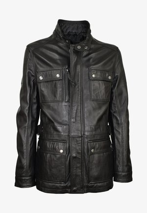 TROOPER - Leather jacket - schwarz