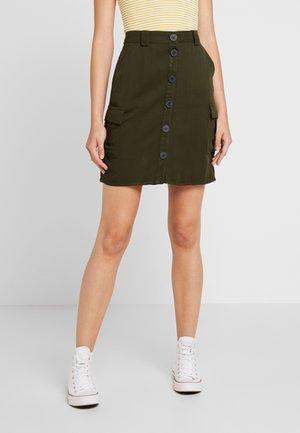 ONLLEA CARGO SKIRT - Mini skirt - kalamata
