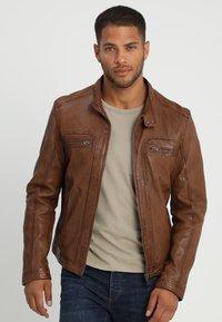 Oakwood - DRINK - Leather jacket - tan - 3