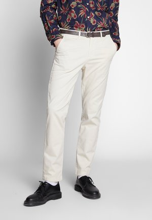 JJIROY JJJAMES SILVER - Chino kalhoty - silver birch