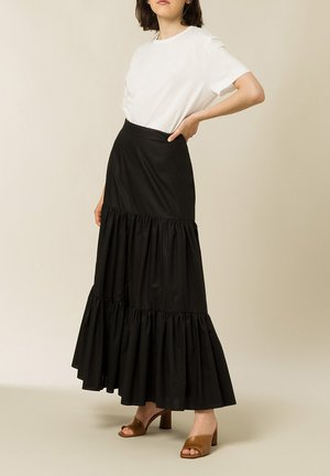 GEORGINA LEAF - A-line skirt - black