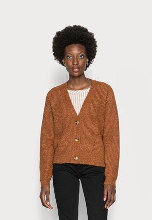 COZY CARDIGAN - Cardigan - amber brown melange