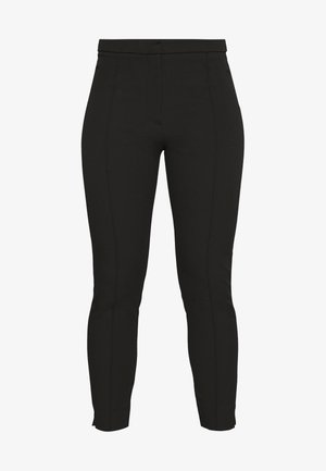 SLFILUE PINTUCK SLIT PANT - Bukse - black