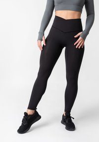 OGY Apparel - AMINTA GLEAM WORKOUT  - Leggings - Trousers - black - 0