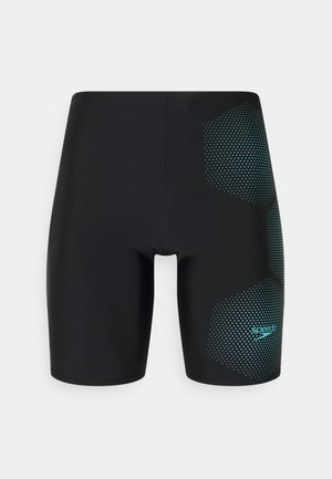 GALA LOGO JAM AM - Swimming trunks - black/light adriatic