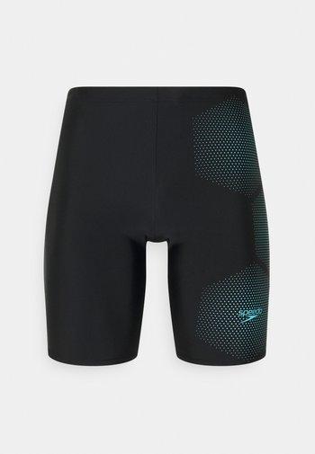 GALA LOGO JAM AM - Swimming trunks - black/light adriatic