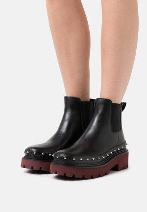 SAO PAULO TRONCHETTO LISCIO - Platform ankle boots - black