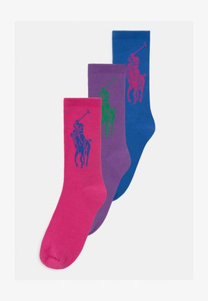 BIG CREW 3 PACK - Socks - pink/purple/blue