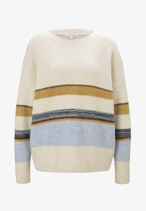 Sweatshirt - creme stripe