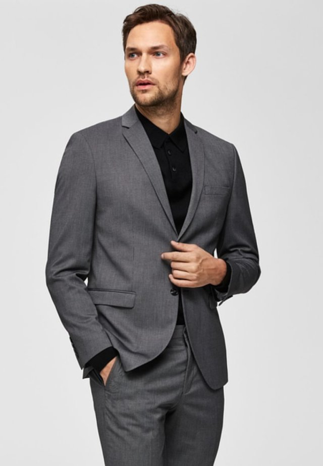 SLIM FIT - Blazer - dark grey melange