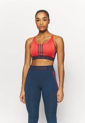 Medium support sports bra - crered/crenav