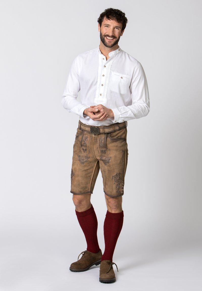 Stockerpoint - Leather trousers - kitt geäscht