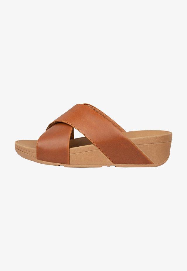 Mules - light tan