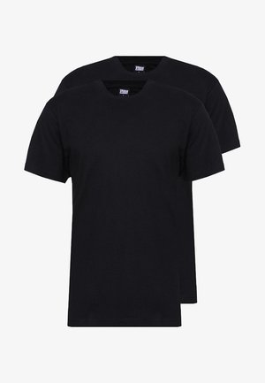 BASIC TEE 2 PACK  - Basic T-shirt - black