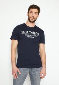 TOM TAILOR - Print T-shirt - sky captain blue - 0