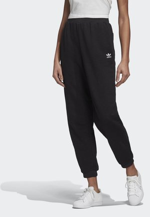 TREFOIL ESSENTIALS CUFFED JOGGERS - Verryttelyhousut - black