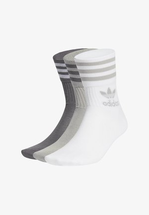 MID CUT CREW SOCKS 3 PAIRS - Calcetines - mgh solid grey/grey five