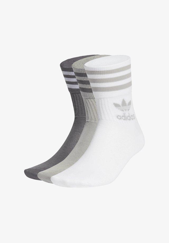 MID CUT CREW SOCKS 3 PAIRS - Socks - mgh solid grey/grey five