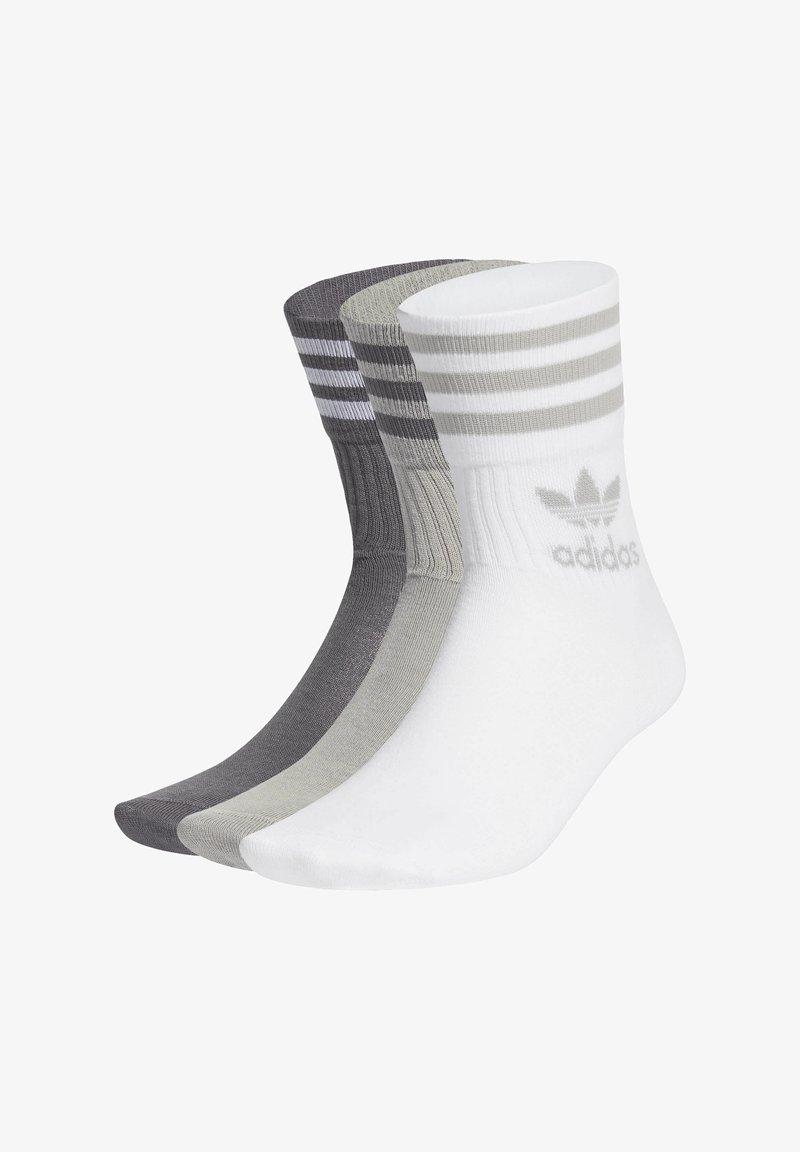 adidas Originals - MID CUT CREW SOCKS 3 PAIRS - Sokken - mgh solid grey/grey five