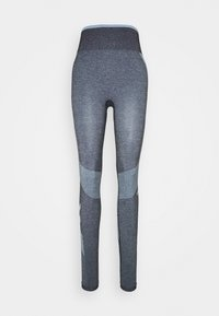 Hummel - SKY HIGH WAIST SEAMLESS - Leggings - black/faded denim - 3
