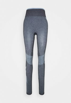 SKY HIGH WAIST SEAMLESS - Tights - black/faded denim