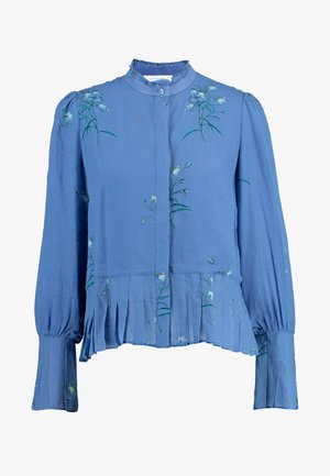 PLISSÉ BLOUSE - Blouse - parisian blue