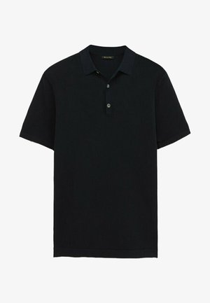 Polo shirt - blue black denim