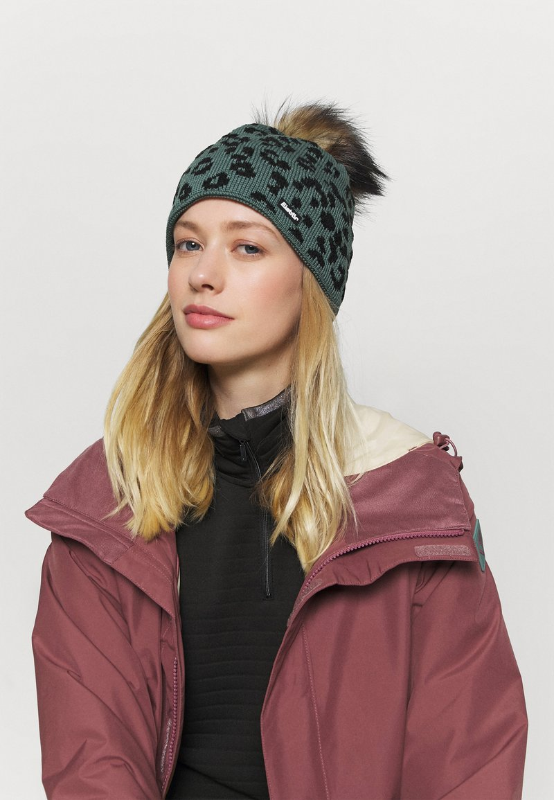Eisbär - LEORA LUX - Mütze - salvia/schwarz