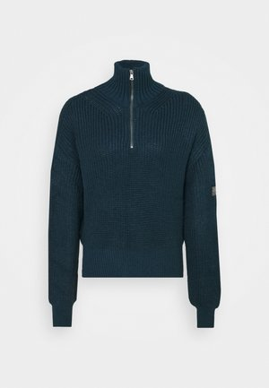 FISHERMAN ZIP UP - Jumper - blue
