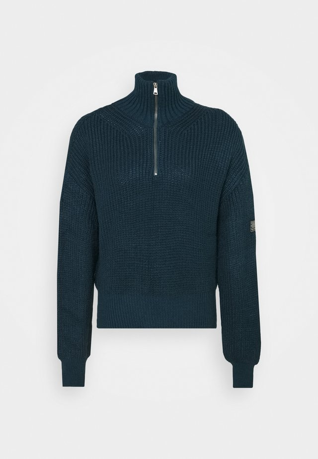 FISHERMAN ZIP UP - Pullover - blue