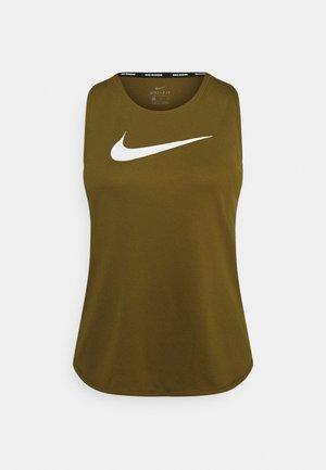 RUN TANK - Sports shirt - olive flak/white